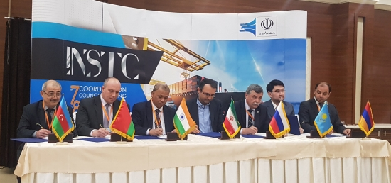 Signing of the minutes of the 7th Coordination Council Meeting of INSTC held in Tehran on March 4-5, 2019