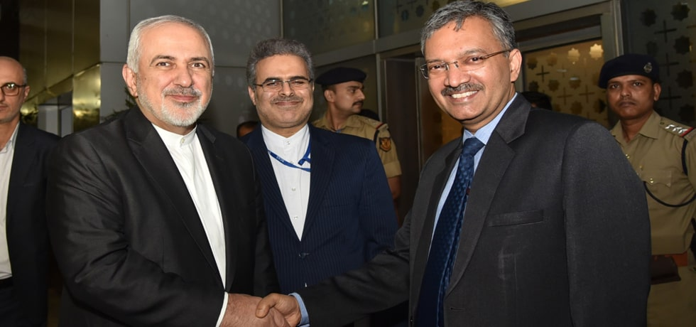 Dr Mohammad Javad Zarif, Minister of Foreign Affairs of Islamic Republic of Iran visits New Delhi