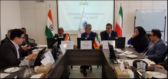 "Ambassador Mr. Gaddam Dharmendra addressing the participants during an event on ""Potential for Expanding India-Iran Trade"" held in Tehran on March 13, 2019."