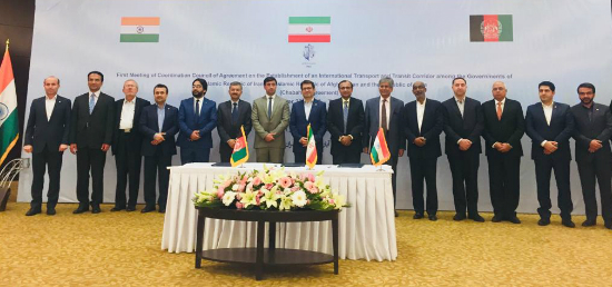 First Meeting of Coordination Council of Agreement on the Establishment of an International Transport and Transit Corridor among the Governments of Islamic Republic of Iran, Islamic Republic of Afghanistan and the Republic of India (Chabahar Agreement) on 23 October 2018 at Tehran