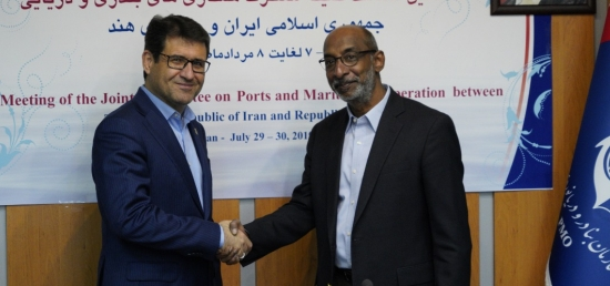 The 8th meeting of the Joint Committee on Ports & Maritime Cooperation was inaugurated by Ambassador Mr. Gaddam Dharmendra and Mr. Mohammad Rastad, Deputy Minister and Managing Director of the Ports & Maritime Organization (PMO) of Iran in Tehran on 29th July 2019.