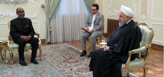 Mr. Gaddam Dharmendra, new Ambassador of India to IR of Iran, presented his credentials to the President of the Islamic Republic of Iran H.E. Dr. Hassan Rouhani, on March 09, 2019.