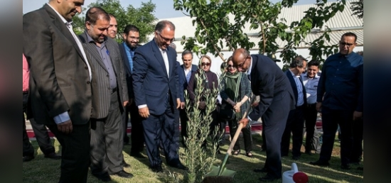 Tree Plantation event organized at Tehran Milad Tower towards celebration of Gandhi@150